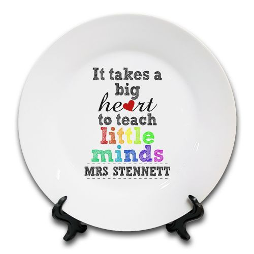 Personalised It Takes A Big Heart to Teach Little Minds... Novelty Ceramic Plate